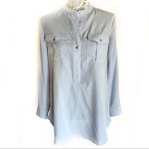 Two by Vince Camino Blue Button Down Shirt Top XS